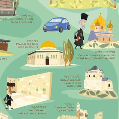 מפת ירושלים